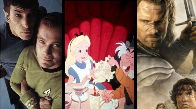 Star Trek TOS (Spock & Kirk) - Alice in Wonderland (Alice & the mad hatter) - Return of the King (Aragorn & Frodo)