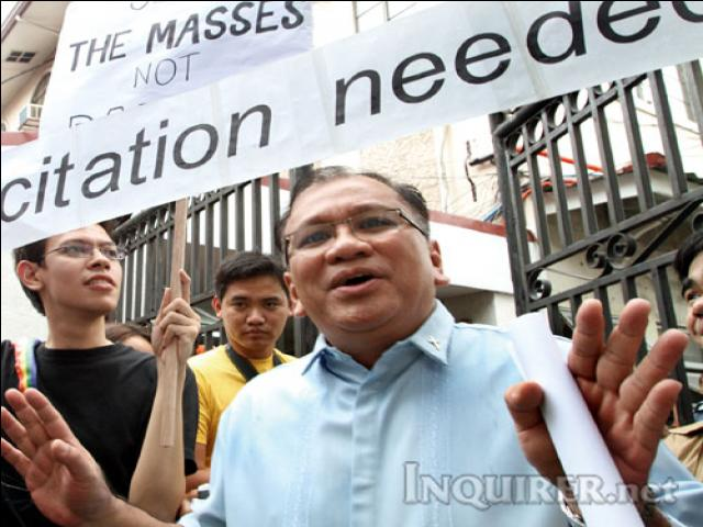 Citation Needed, at rally in front of CBCP