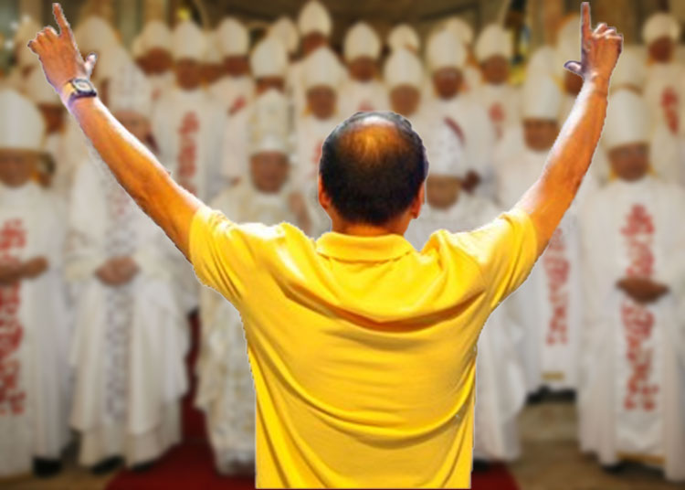A fictional face-off between Aquino and bishops