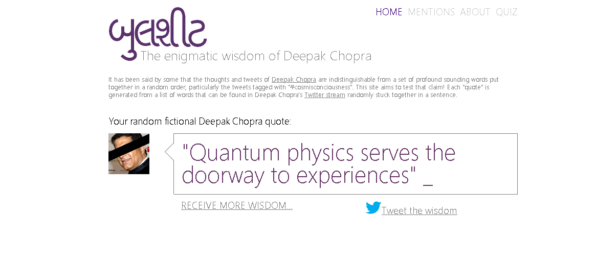 Random Deepak Wisdom