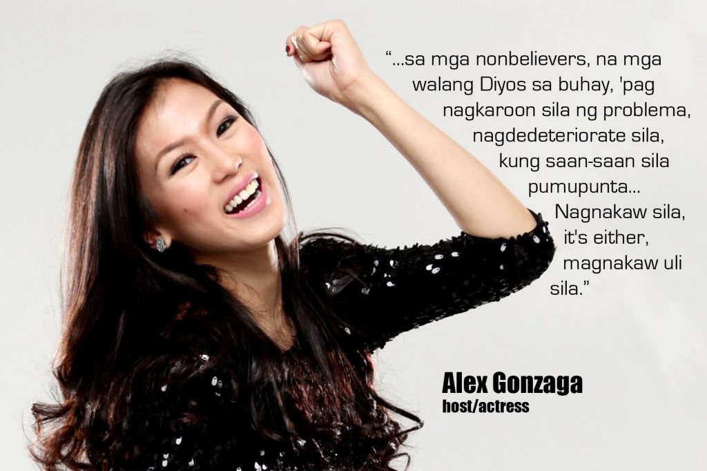 Alex Gonzaga rants about atheists