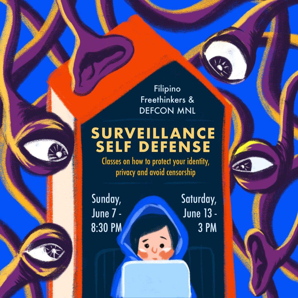 Surveillance Self-Defense on Sunday, June 7 and Saturday, June 13